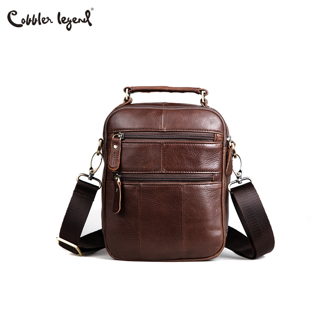 Cobbler Legend Genuine Leather Men Bags Flap Casual Handbags Male Shoulder Crossbody Bags Messenger Men Leather Bag Top-handle