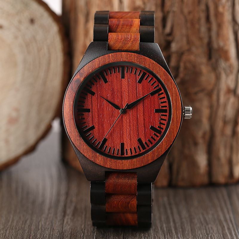 Simple Women Men Quartz-watch Bracelet Clasp Bangle Full Wooden Wrist Watch Nature Wood Modern Handmade Bamboo Christmas Gifts digital led punch tachometer rpm speed meter 5 9999rpm tacho gauge hall proximity switch sensor 12v 8 15v red