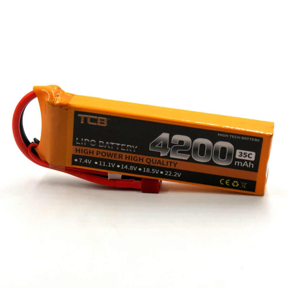 TCB RC LiPo батарея 7,4 V 4200 mAh 35C 2 S для RC самолета вертолета автомобиля батареи для Дронов LiPo 7,4 V Max 70C AKKU