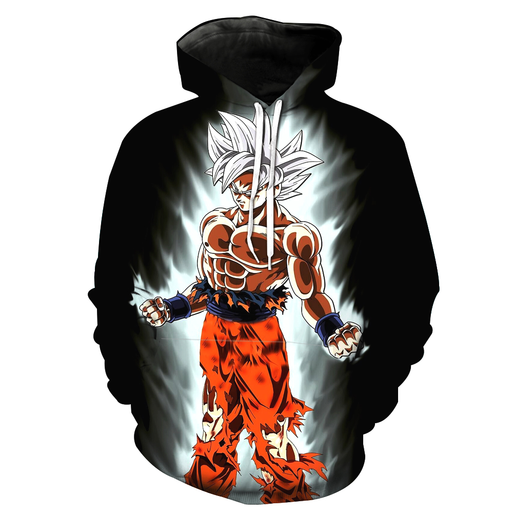 Dropshipping 2018 New Design Dragon Ball Z Cosplay Hoodies 3D Hoodies Pullovers Sweatshirts Anime Funny Cartoon Hoodies US Size