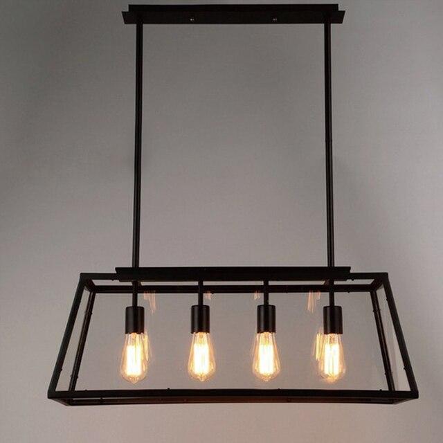 Black Vintage Pendant Light Loft Style Lights Creative Nordic Retro Lamp Spider Edison Dining Living Room Lamps