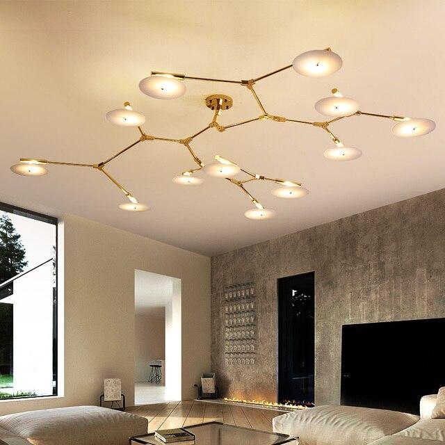 Modern Led Living Room Chandelier Ceiling Loft Hanging Lights