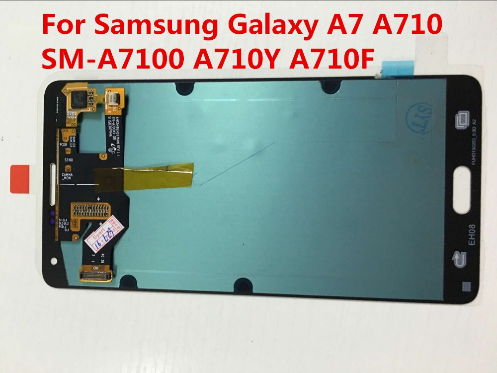 NO Dead Pixels For phone parts LCD Screen LCD Digitizer Assembly For Samsung Galaxy A7 SM-A7100 A710Y