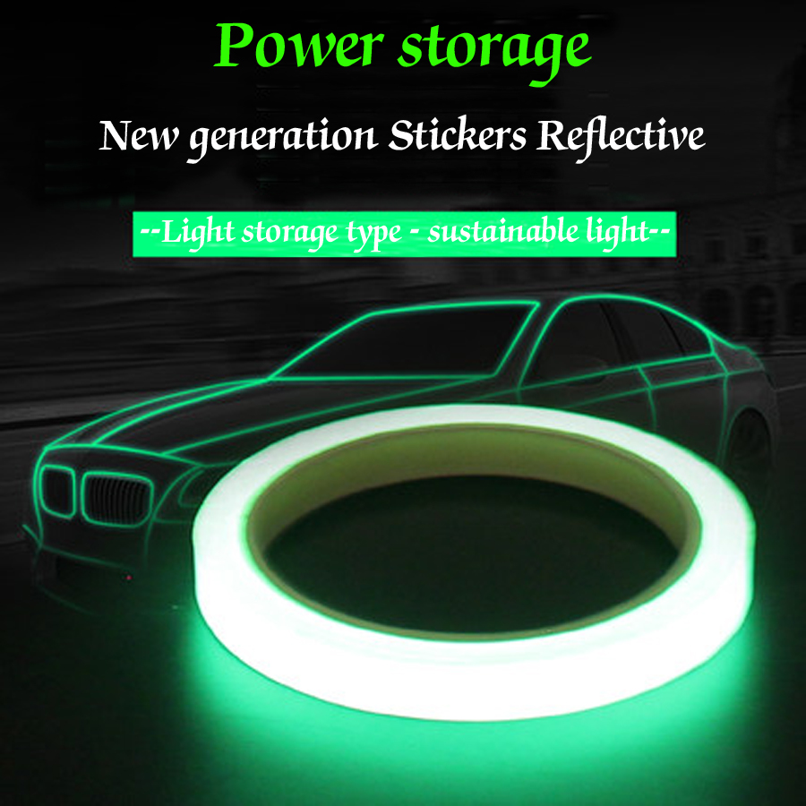 Reflective Material Cheap Sale Colorful Reflective Tapes Glow Self-adhesive Sticker Luminous Fluorescent Glowing Tapes Dark Striking Warning Tape Easy And Simple To Handle Roadway Safety