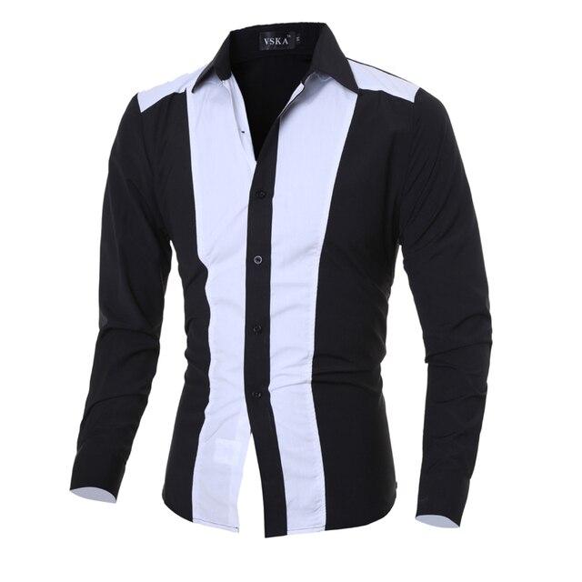 Long Sleeve Shirt Design | 2016 New Arrival Stylish Fashion Design Men S Shirts M 2xl Long