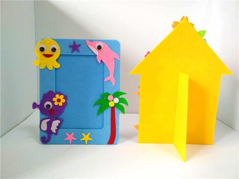 Happyxuan 10 шт. Детские DIY войлочные наборы для ремесла фото рамка мультфильм дельфины детский сад детские творческие Обучающие игрушки 2018
