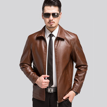 New Fashion Mens Leather Jackets And Coats Casual  Men's Motorcycle Leather Jackets Zipper Clothing Veste Cuir Homme