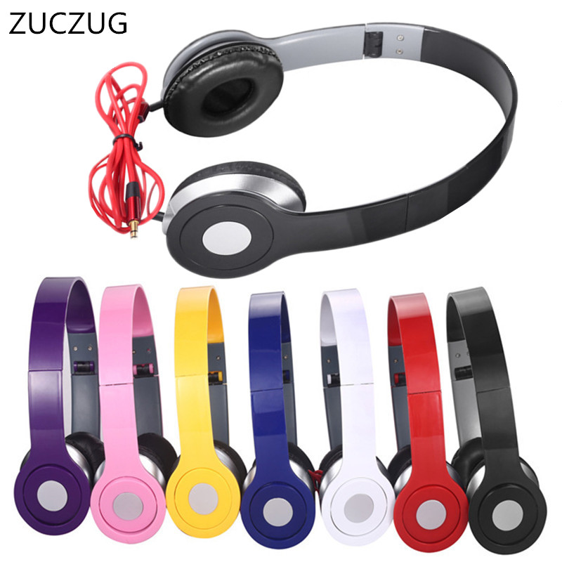 ZUCZUG New Headphones Earphones 3.5mm AUX Foldable Portable Adjustable Gaming Headset For Phones MP3 MP4 Computer PC Music Gift mymei best price new portable 3 5mm pillow speaker for mp3 mp4 cd ipod phone white