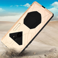 Luxury Outdoor Sports Army Tactical Shockproof Hard Metal Silicone Full Protection Phone Housing Case Cover For