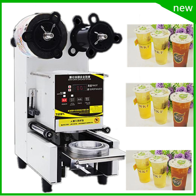18 free ship Automatic Cup Sealing Machine with counter for Tea ,Coffee, Milk,Automatic Cup Sealer Beverage Cup Packing Machine automatic three sides sealing tea bag coffee bag packing machine