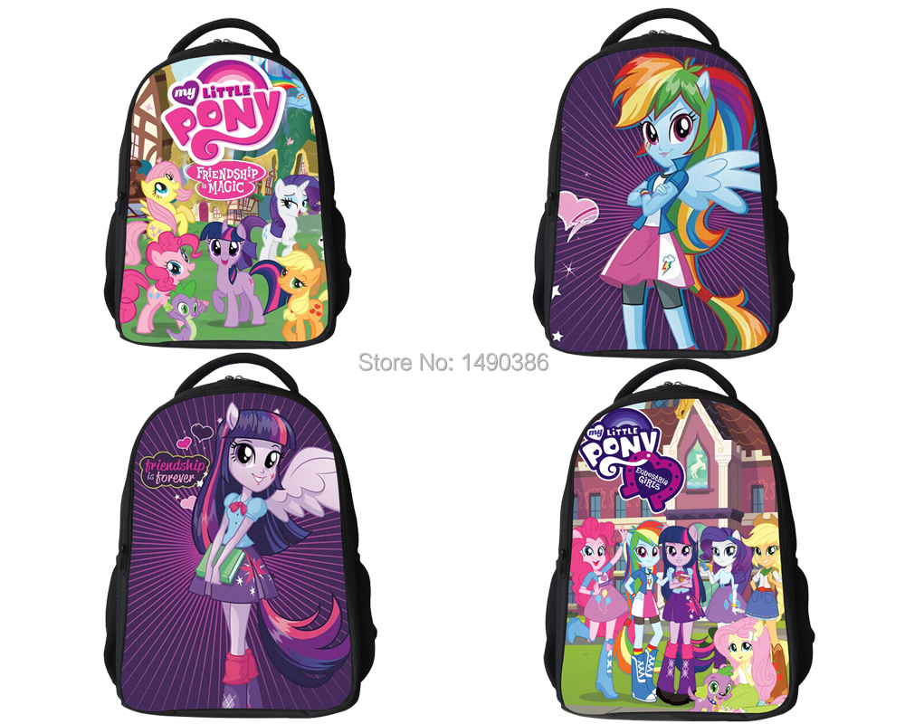 New Fashion Cartoon Backpacks for Teenagers Girls My Little Pony Backpack Kids School Bags Cute Boy Pony Horse Bag Child Mochila 2016 new fashion novelty despicable me kids cartoon backpacks children minion school bag boy girl mochilas