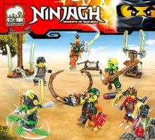 JX1025 Ninjagoes Series Spinjitzu Master Flying Pirates Minifigure Education Bricks Building Block Compatible Legoe