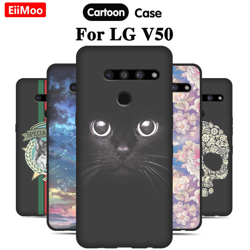 Eiimoo Telefoon Case Voor Lg V50 Thinq Case Silicone Soft Cover Leuke Patterned Telefoon Coque Voor Lg V50 Thinq 5G Case Cartoom Tpu