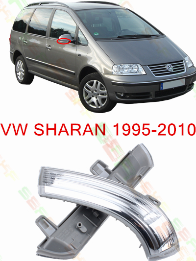 For Volkswagen VW Sharan 7M8 7M9 7M6  1995-2010  Led Car Styling Side Mirror With Indicator Turn Signals Lights 1K0 949 101/102