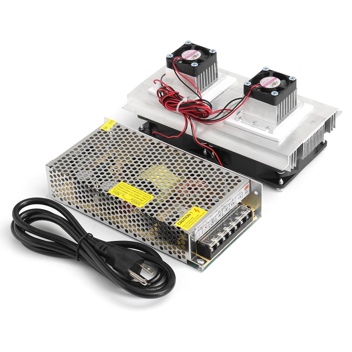 120 w DIY Thermoélectrique Peltier Refroidisseur Semi-conducteurs De Réfrigération Système De Refroidissement Kit Double Ventilateur Cooler Fini Kit