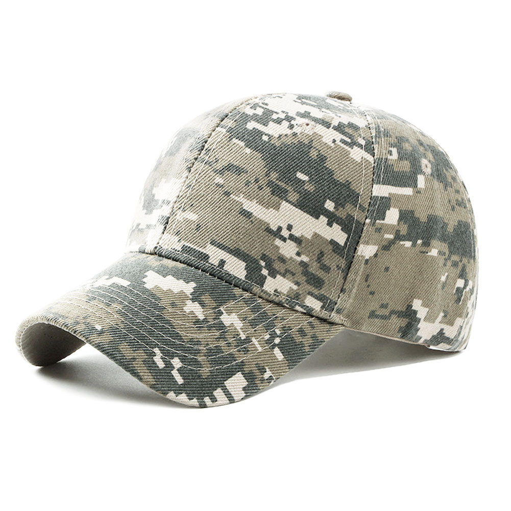 Mens Army Camouflage Camo Cap Hunting Fishing Blank Desert Hat Cadet Casquette Desert Camo Hat
