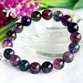 Alta Qualidade Natural Genuine Multi Cores Mix Super Seven 7 Acabamento Trecho Pulseira Rodada Big Beads Pedra Melodia 10mm 03724