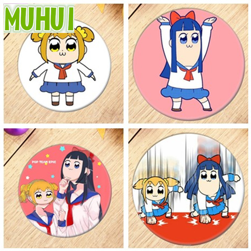 Anime Tokyo Pop Team Epic Brooch Breastpin Badge Accessories Cartoon Poputepipikku Pipimi For Clothes Backpack Decoration 18405