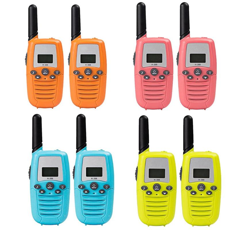 1 Pair Kids Electronic Walkie Talkies With Flashlight Parent-Child Wireless Talking Interactive Toy One-touch Carry-on Clip Toys