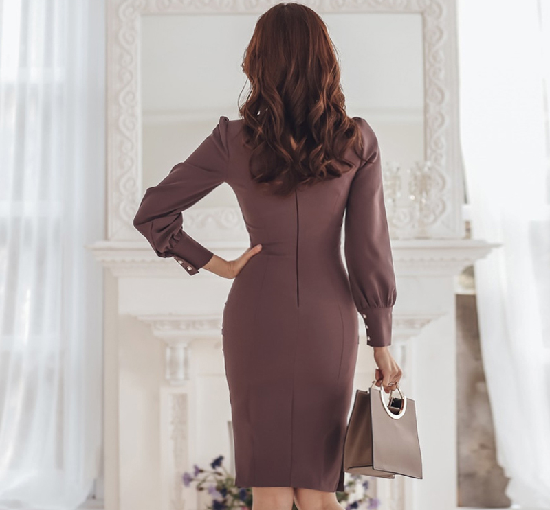 vestido decote v 2019 6