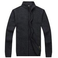 2017 Satış Kış Erkek Kazak % 100% Pamuk Örme Hırka Örgü Marka Giyim adamın Kalın Triko Giyim Sweatercoats