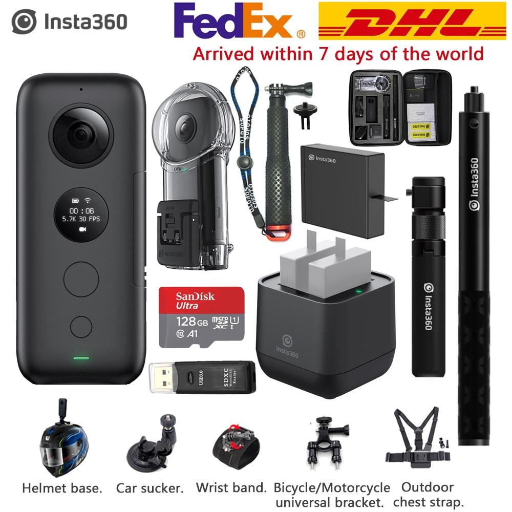 Insta360 ONE X 5.7 K VR 360 Action Camera dla iPhone i Android Insta 360 ładowarka kula czas niewidoczne selfie kij w Kamera sportowa od Elektronika użytkowa na  Grupa 1
