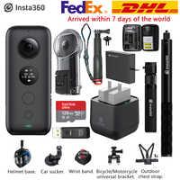 Insta360 uno X 5,7 K VR 360 cámara de acción para iPhone y Android Insta 360 cargador de batería tiempo bala Invisible palo de Selfie