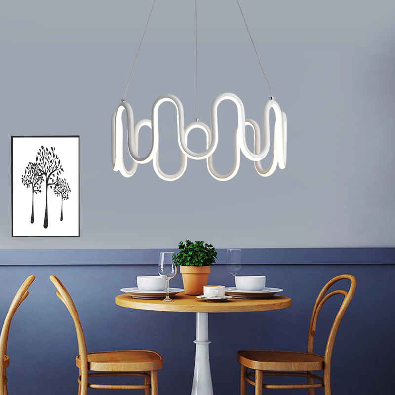 Modern LED Peddant Lights for Parlor Bedroom Study Hotel Elegant M design highlights the tranquility of the room Pendant lamp тенты зонты highlights of punta
