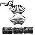 MSQ 29 PCS Professional Cosmetic Brushes Set Alta Qualidade Do Cabelo Animal Com High End Estojo De Couro PU Maquiagem Para A Beleza