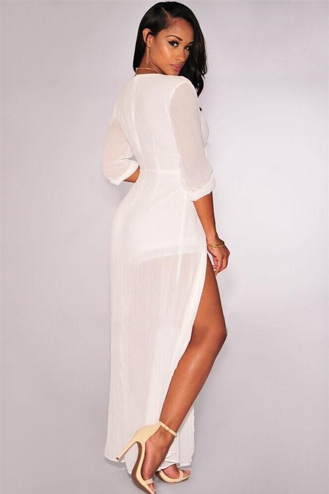 e389c7fc508f UpGirl Women Dress Cheap clothes china Dresses V Neck Chiffon Maxi Romper  UG30139-in Dresses from Women s Clothing   Accessories on Aliexpress.com