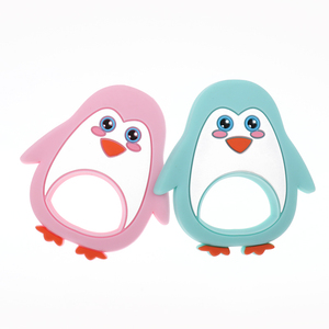 Image 2 - Whosale Silicone Penguin Baby Teethers Hedgehog 10pcs Bpa Free Infant Chewing Teething Necklace Pendant Accessories Nurses Gifts