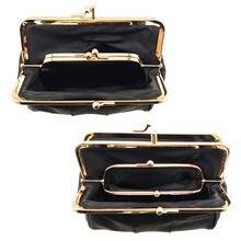 BELLO TUTTI – Mini porte-monnaie Original en peau de mouton pour femmes, petits portefeuilles à cadre métallique, sac à monnaie, nouvelle collection
