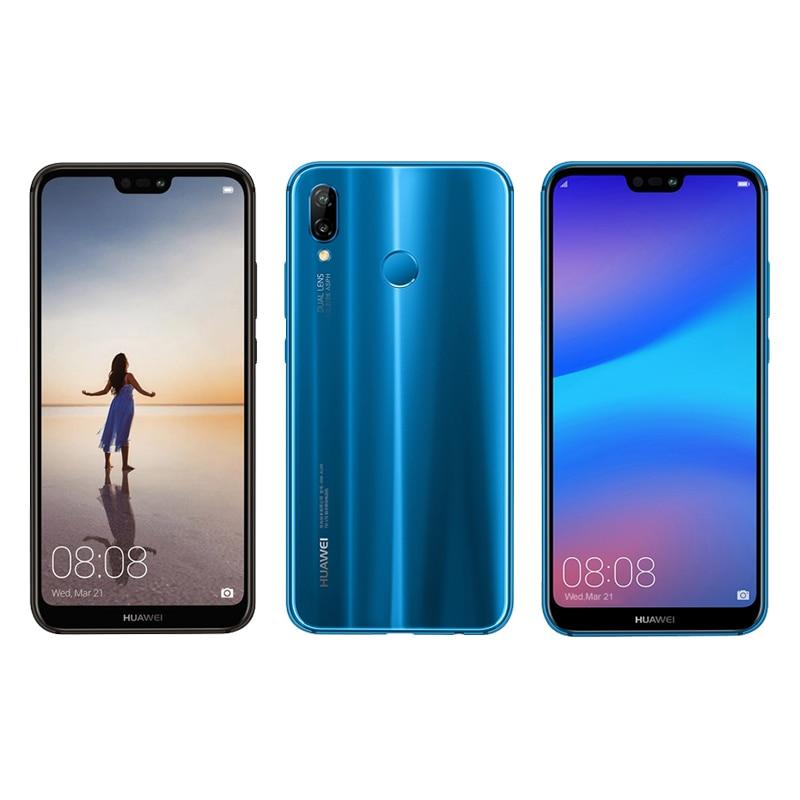 "Dhl Snelle Levering Huawei Nova 3E P20 Lite Mobiele Telefoon Kirin 659 Android 8.0 5.84 ""2280X1080 4gb Ram 64Gb Rom 24.0MP Gezicht Id"