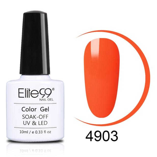 Elite99 10ML Gel Nagellack Leuchtstoff Neon UV Gel Lack Macaron Farbe Hybrid Nail art Semi Permanent Primer Gel lak Lack