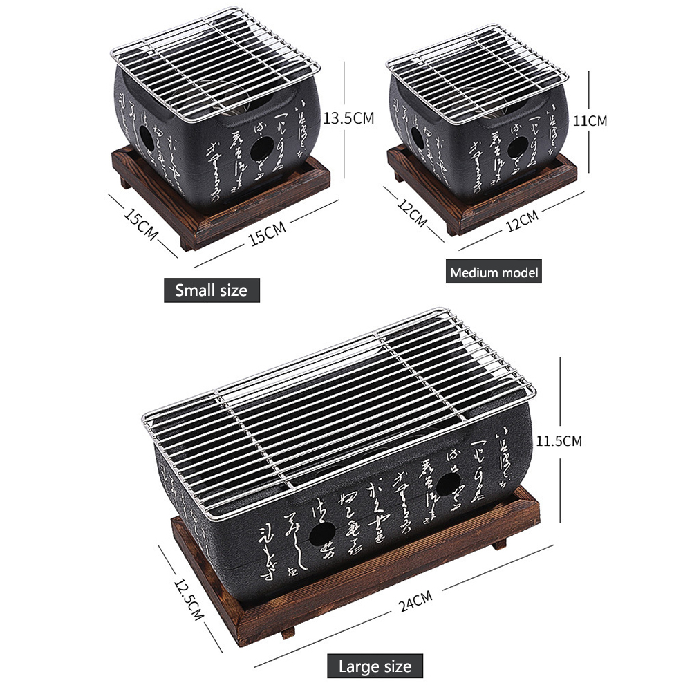 Outdoor Picnic Garden Charcoal Grill 5