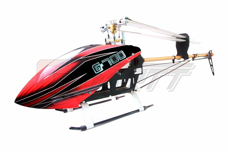GARTT 700 DFC TT RC Helicopter Torque Tube Version Fiber Glass Canopy(Including The Main  Blades) Fits Align Trex 450 pro dfc tail boom mount torque tube front drive gear set for trex 450 helicopter