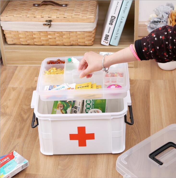 SLL51--Medical hospital pharmacy plastic medicine box gift medical box customized storage box
