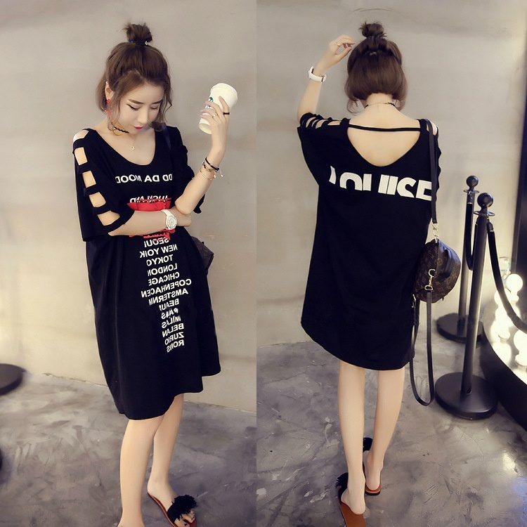 Plus velikost ženske majice s kratkimi luknjami za ženske - Ženska oblačila - Fotografija 2