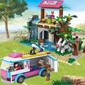 Cogo dream girl educativos bloques de construcción de juguetes para los niños regalos mini coche compatible con legoe