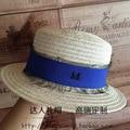 Summer new linen flat straw lace elegant British female hat