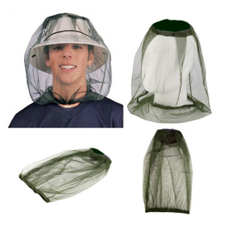 Portable Mosquito Hat Net Protector Face Hat Bee Veil Insect Hat Anti Bug Mesh Folding Head Net Apiculture Outdoor Fishing Hat