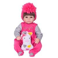 Miękkie silikonowe Realistyczne Reborn Baby Doll 17 Cal Realistyczne Dziewczyna Noworodków Tkaniny Ciała Zabawki Dla Dzieci Urodziny Xmas Prezent