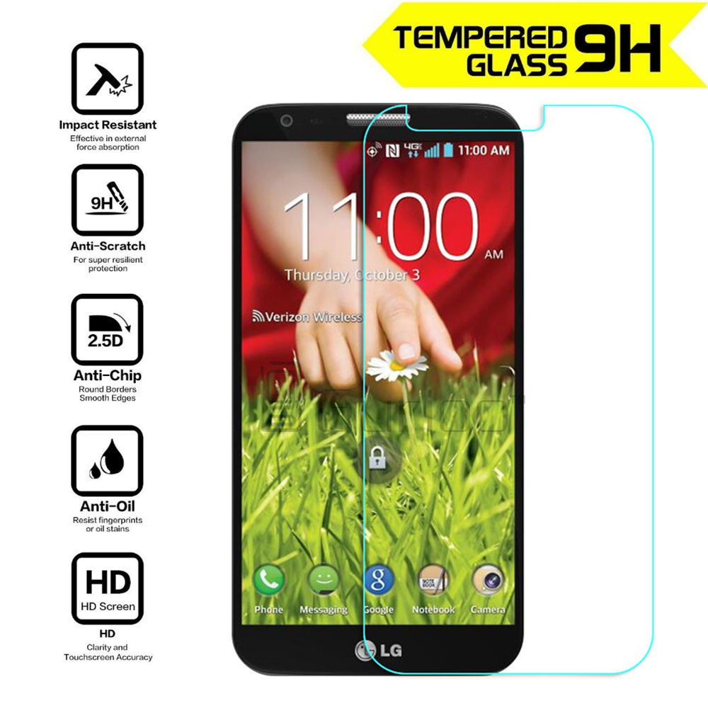 Ultra-thin Premium Tempered Glass Anti-shatter Screen Protector For LG G2 D802 Protective Film