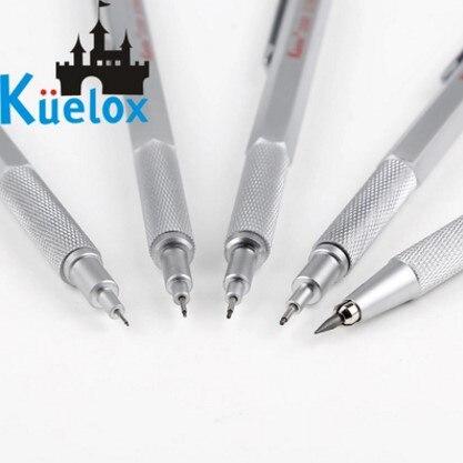 Kuelox metal desenho em quadrinhos lápis mecânico 0.3/0.5/0.7/0.9/2.0mm engenharia desenho lápis 1 peças