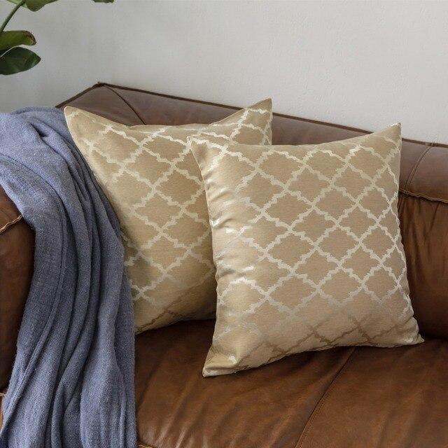 2 pacco Decorativo di Lusso In Oro Dei Commerci All'ingrosso Cuscini cuscino gri