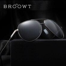 BROOWT Brand Polaroid Sunglasses Men's Women's UV400 Protection Polarized Driving Alloy Sun Glasses For Men Women BR335