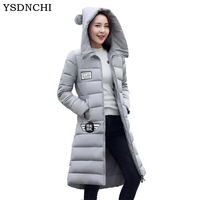 Hot Sale Female Coats Winter Jackets For Women Army Green Long Section Thicken Keep Warm Loose Military Coat Padded Zipper