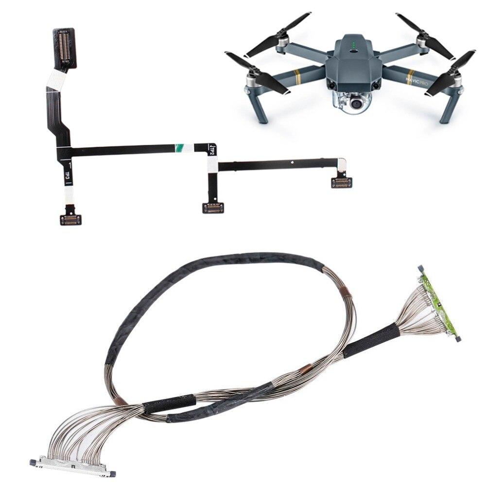 DJI Mavic Pro Cable de señal Gimbal Kits de reparación para DJI Mavic Pro Drone Cámara piezas PTZ transmisión de vídeo línea Flexible