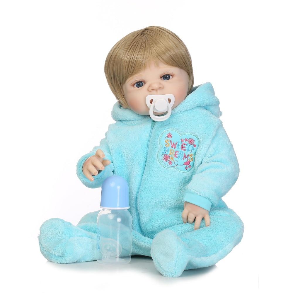 NPKCOLLECTION 22 Full Silicone reborn doll baby dolls reborn for children xmas gift bebe alive bonecas reborn de de silicone