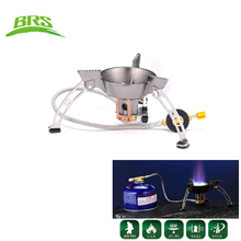 BRS High Quality Windproof Outdoor Portable Stove Gas Burner Camping Cooker Picnic Cookout Large Blaze Gas Stove Burners BRS-11